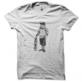 tee shirt stormtrooper skateboard blanc