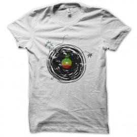 tee shirt reggae music blanc