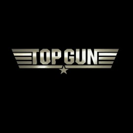 tee shirt Top gun noir