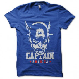 tee shirt captain america bleu