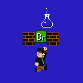 tee shirt Breaking Bad game bleu