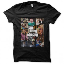tee shirt big bang theory gta noir