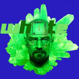 tee shirt walter white bleu