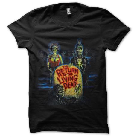tee shirt return of the living dead noir
