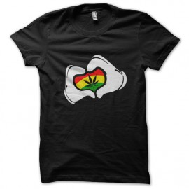 tee shirt love marijuana noir
