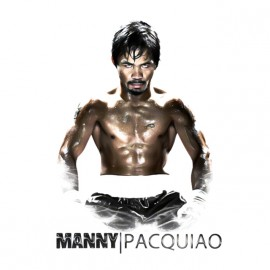 tee shirt Manny pacquiao blanc