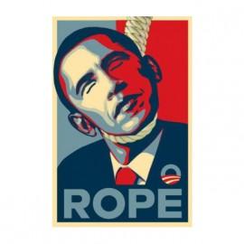 tee shirt obama rip blanc