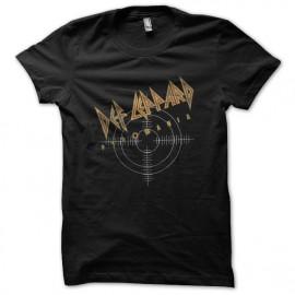 tee shirt def leppard pyromania noir