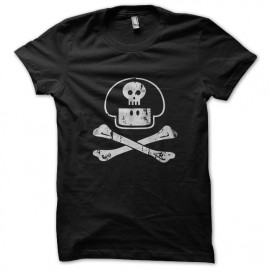 tee shirt mushroom skull noir