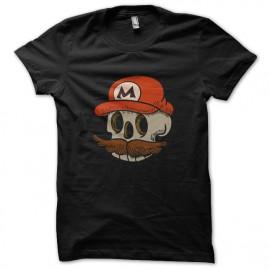 tee shirt mario skull noir