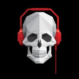tee shirt music skull noir