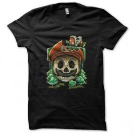 tee shirt mario game over noir