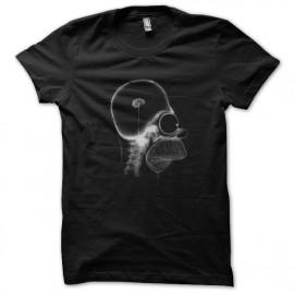 tee shirt homer brain noir