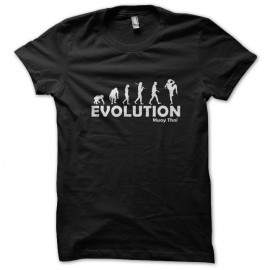 tee shirt Evolution muay thai noir