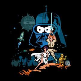 tee shirt star wars simpsons