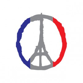 tee shirt pray for paris blanc