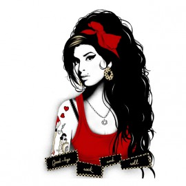 tee shirt amy winehouse rip blanc