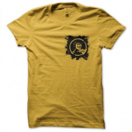 tee shirt bruce lee splash jaune