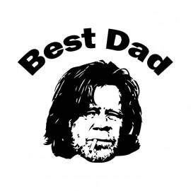 tee shirt shameless best dad gallager blanc