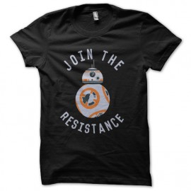 tee shirt join the resistance noir
