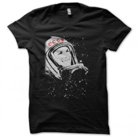 tee shirt CCCP astronaute noir