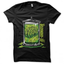 tee shirt re-animator brain noir mixtes tous ages