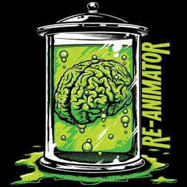 tee shirt re-animator brain noir