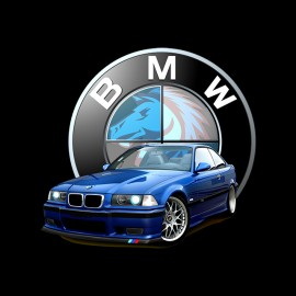 tee shirt m3 e36 estoril noir