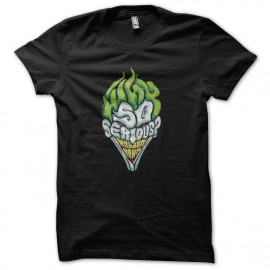 tee shirt joker why so serious noir