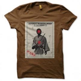 tee shirt imperial academy star wars marron