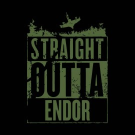 tee shirt outta endor noir