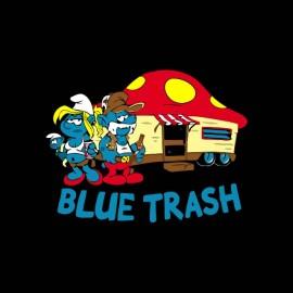 tee shirt schtroumpfs trash noir