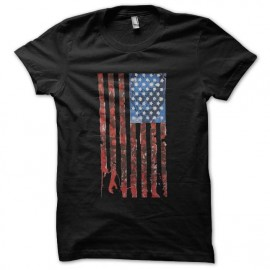 tee shirt walking dead flag noir