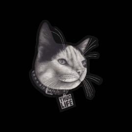 tee shirt chat thug life noir