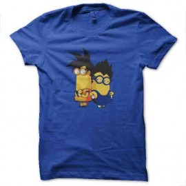 tee shirt minions dragon ball goku et vegeta
