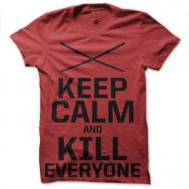 tee shirt keep calm and kill everyone deadpool