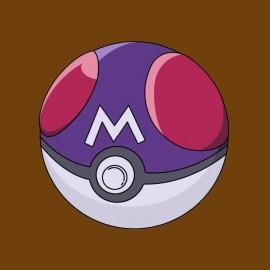 tee-shirt pokemon ball marron