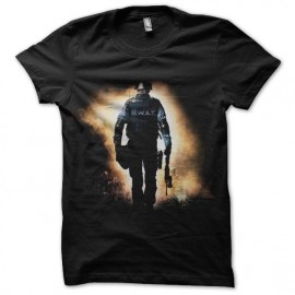 tee shirt swat team police noir