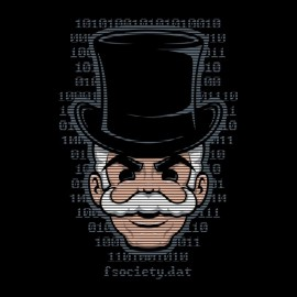 tee shirt Mr robot f.society special