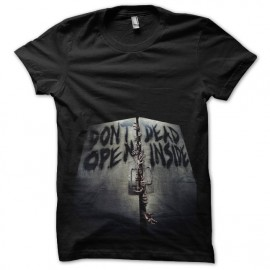 tee shirt walking dead dead inside noir