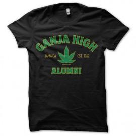 tee shirt ganja high noir