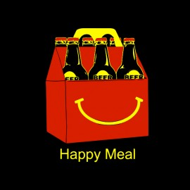 tee shirt happy meal noir