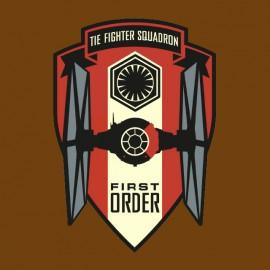 tee shirt star wars first order marron