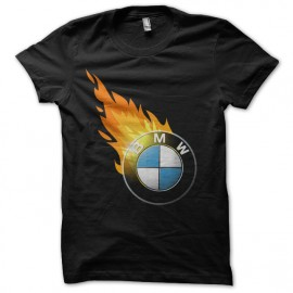 tee shirt bmw fire noir