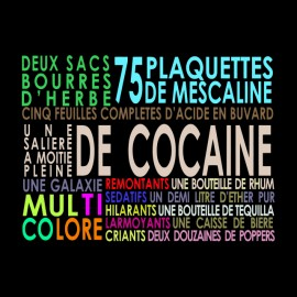 tee shirt las vegas parano liste des drogues