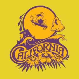 tee shirt california surf