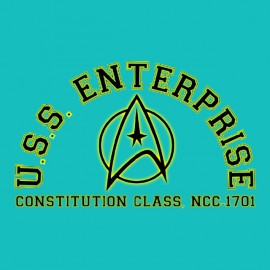 tee shirt uss enterprise star trek