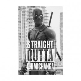 tee shirt deadpool straight outta chimichanga