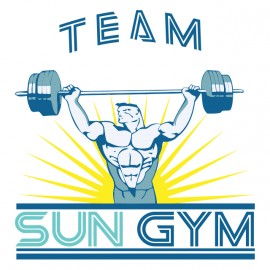 tee shirt sun gym team no pain no gain