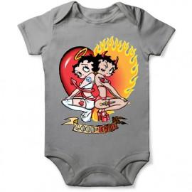 grenouillere betty boop ange et demon pour bebe
